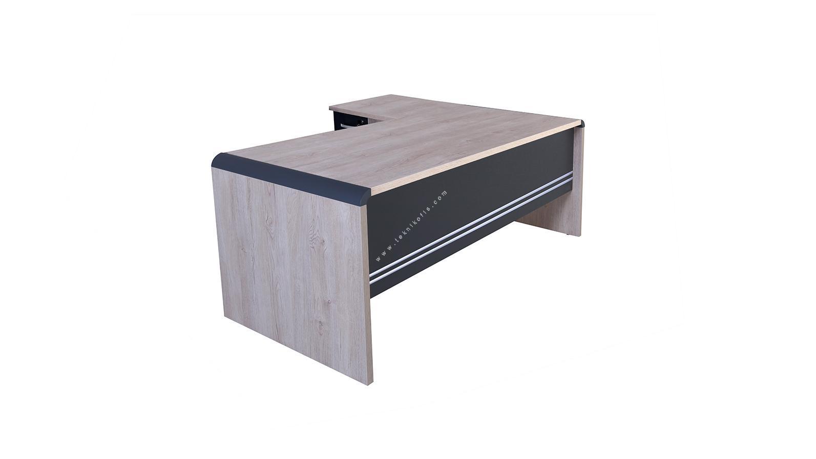 pola etajerli çalışma masası 200cm
