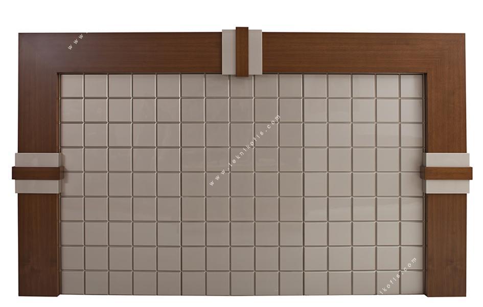 salvador cilalı derili makam pano duvar ünitesi