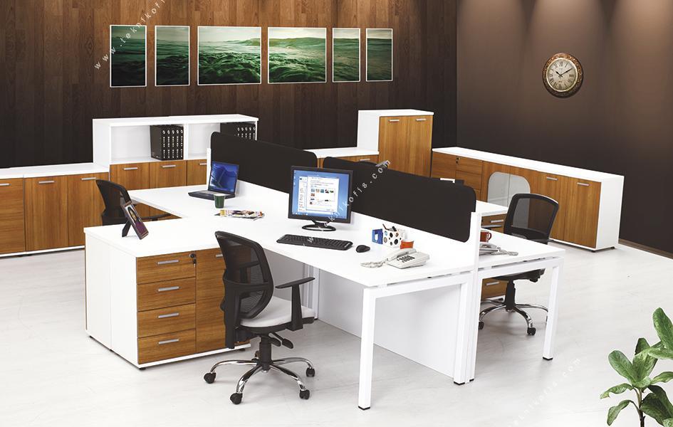 sontag dörtlü workstation çoklu çalışma masası