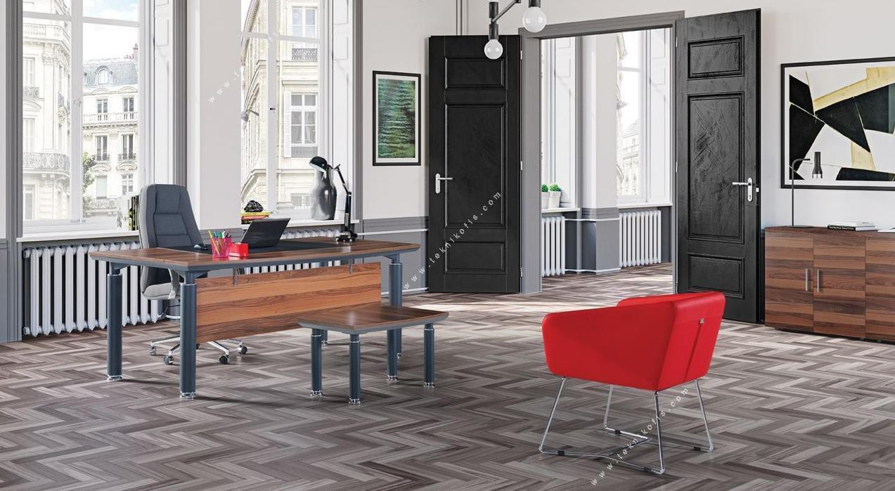 steve boyalı metal yönetici mobilyası