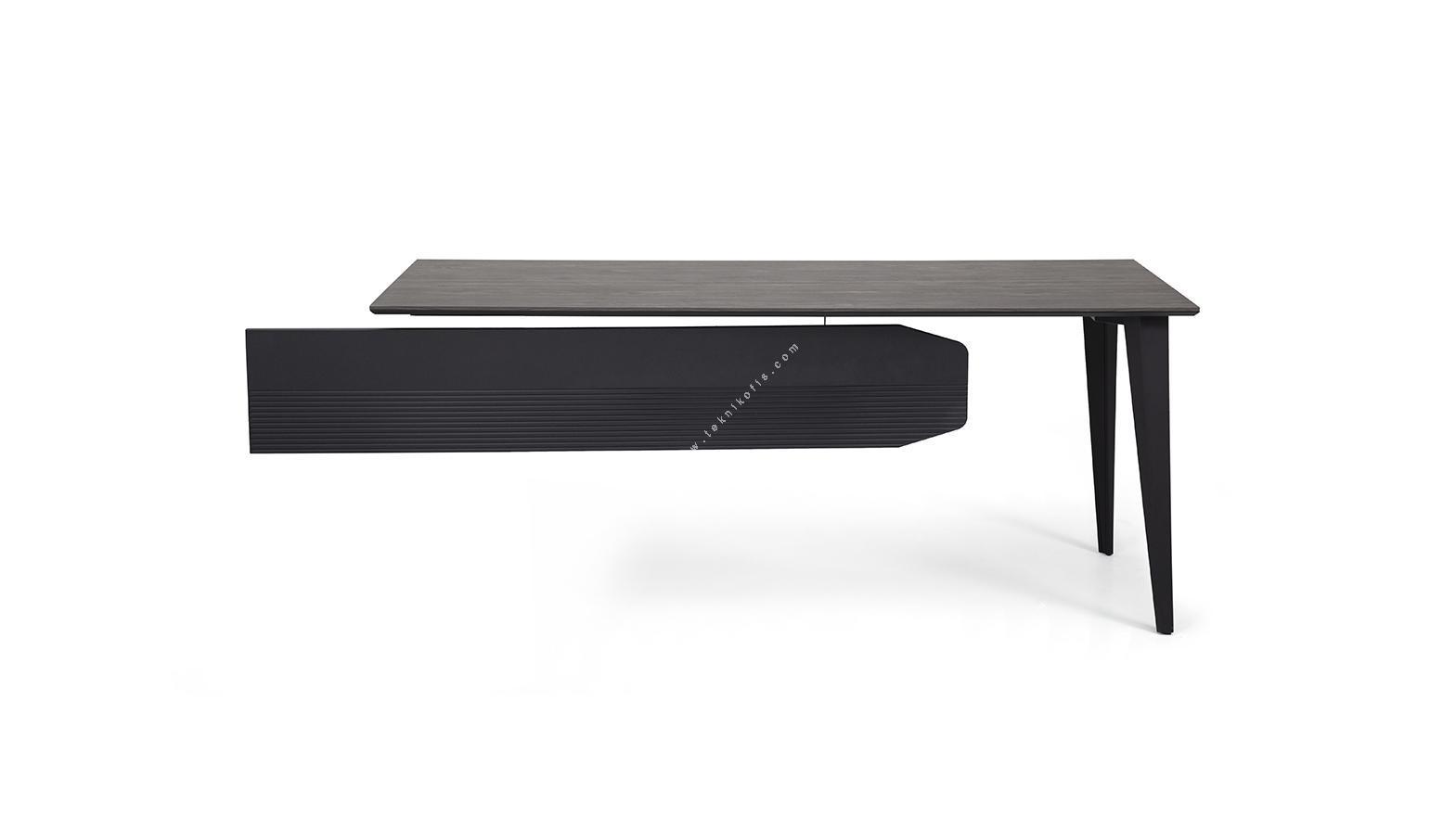 strike metal ayaklı etajerli personel masası 160cm