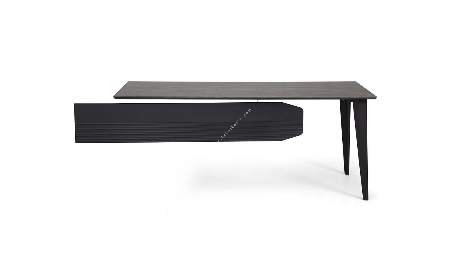 strike metal ayaklı etajerli personel masası 180cm