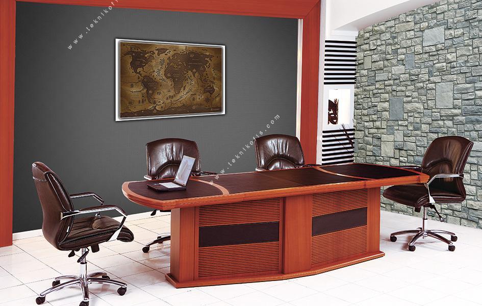 sunset modern ahşap toplantı masası 350cm