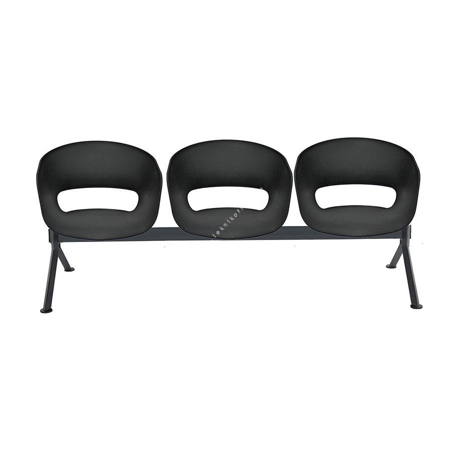tereos plus siyah gövde üçlü bekleme koltuğu