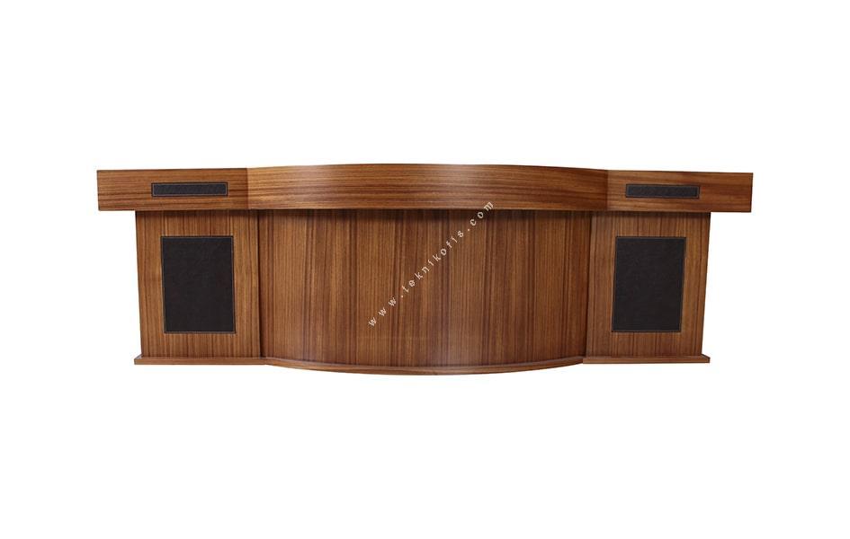 tonga derili ahşap makam masası