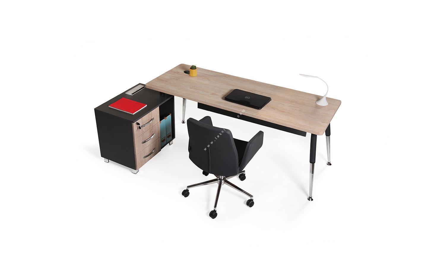 toucher küçük etajerli yönetici masası 200cm