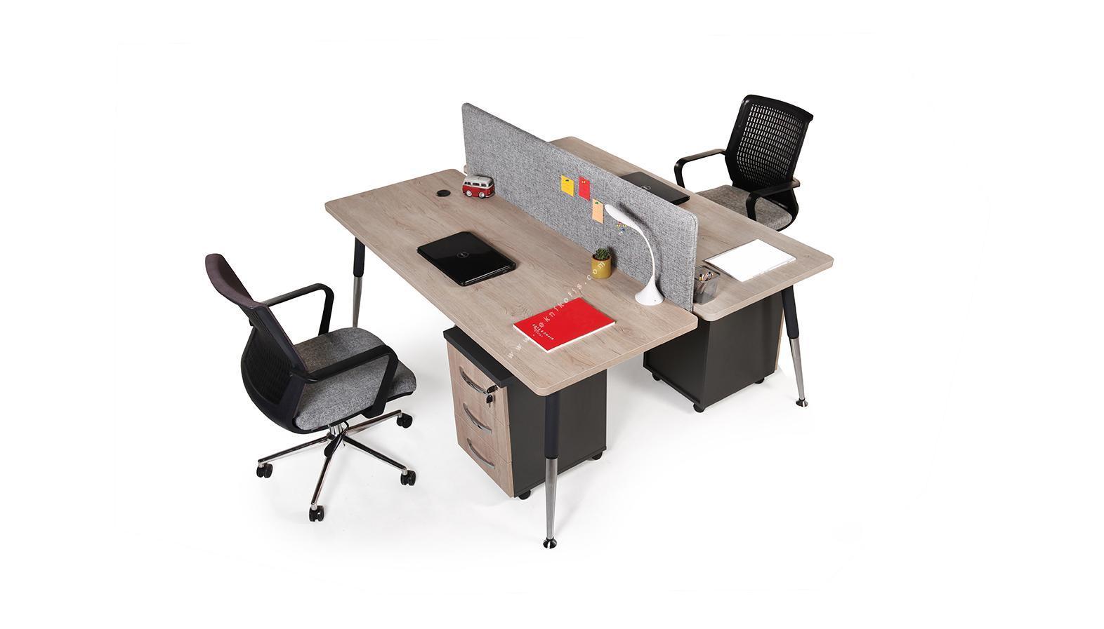 toucher kumaş panelli ikili workstation