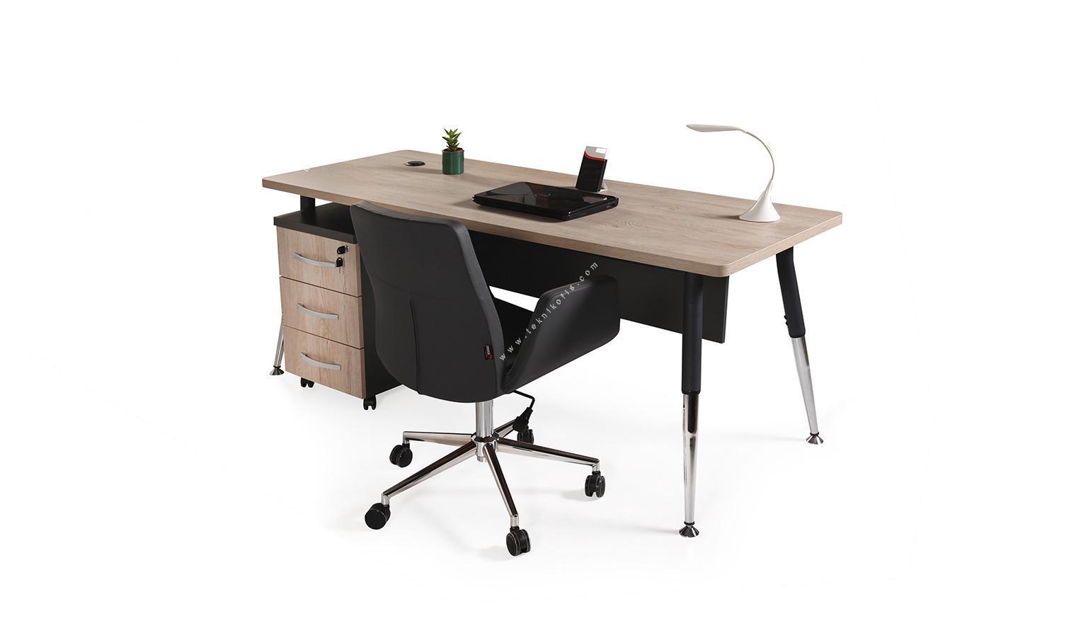 toucher metal ayaklı çalışma masası 160cm