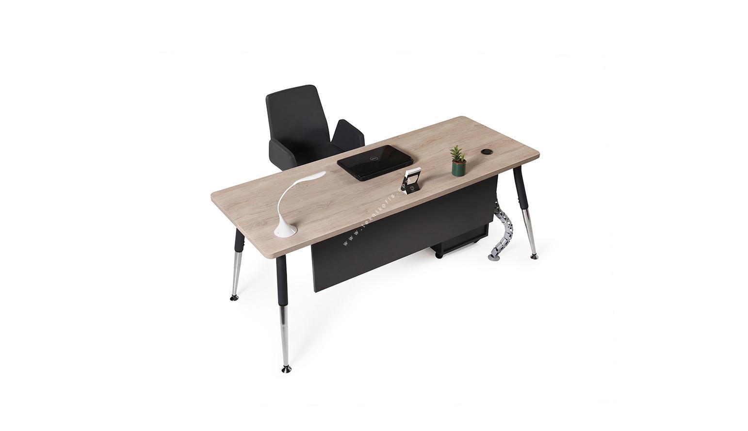 toucher metal ayaklı çalışma masası 180cm