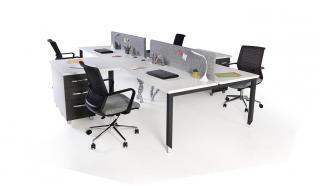 aveo dörtlü kesonlu masa 360cm kumaş seperatör
