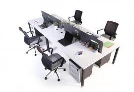 aveo dörtlü masa 360cm melamin seperatör