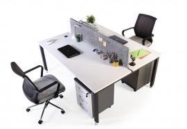aveo kumaş seperatörlü ikili çalışma masa grubu 160cm