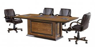 grade işlemeli tasarım toplantı masası 280cm