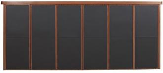 leather cilalı derili makam dolap